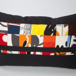 Oblong Abstract Art - Black