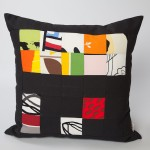 Square Abstract Art - Black